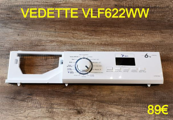 AFFICHEUR LAVE-LINGE : VEDETTE VLF622WW
