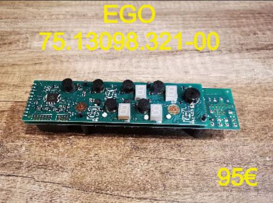 CARTE CLAVIER PLAQUE VITROCÉRAMIQUE : EGO 75.13098.321-00