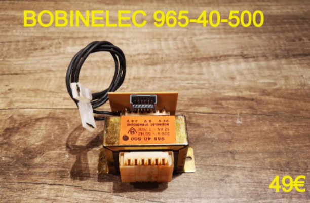 TRANSFORMATEUR DE HOTTE 220/12 VOLTS : BOBINELEC 965-40-500