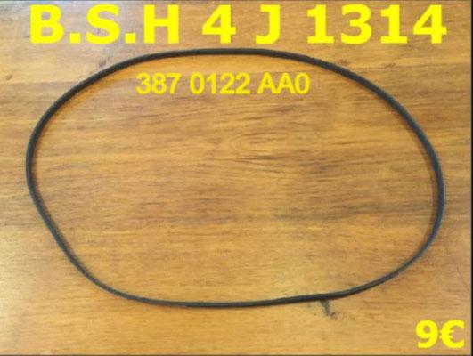 COURROIE LAVE-LINGE : B.S.H 4J1314 - 387 0122 AA0
