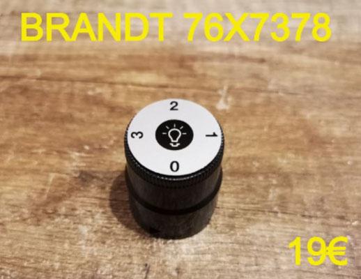 MANETTE DE COMMANDE HOTTE : BRANDT 76X7378