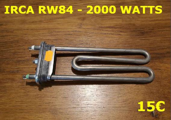 RÉSISTANCE LAVE-LINGE : IRCA RW84 - 2000 WATTS