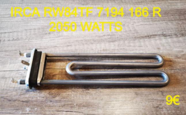 RÉSISTANCE LAVE-LINGE : IRCA RW84TF 7194 166 R 2050 WATTS