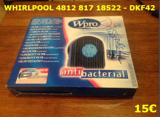 FILTRE DE HOTTE : WHIRLPOOL 481281718522 - DKF42