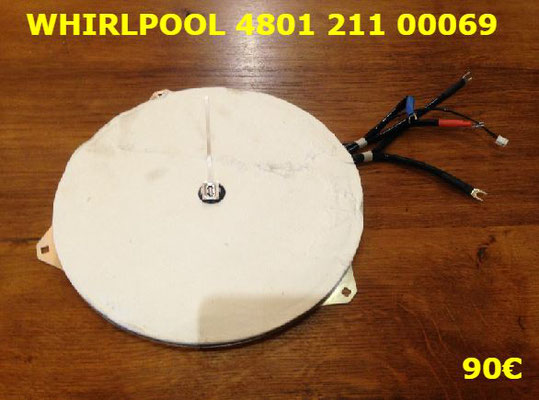 FOYER INDUCTION : WHIRLPOOL 480121100069
