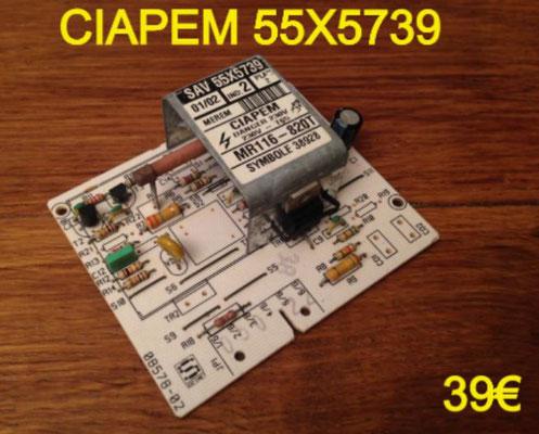 CARTE DE PUISSANCE LAVE-LINGE : CIAPEM 55X5739