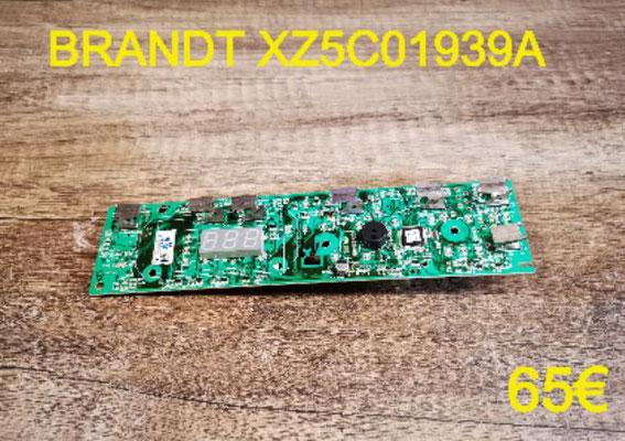 CARTE DE COMMANDE LAVE-VAISSELLE : BRANDT XZ5C01939A
