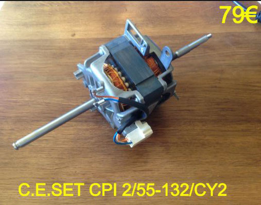 MOTEUR SÈCHE-LINGE : C.E.SET CPI 2/55-132/CY2