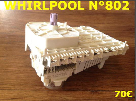 PROGRAMMATEUR LAVE-LINGE : WHIRLPOOL N°802