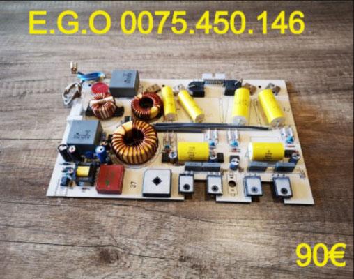 CARTE DE PUISSANCE PLAQUE VITROCÉRAMIQUE : E.G.O 0075.450.146