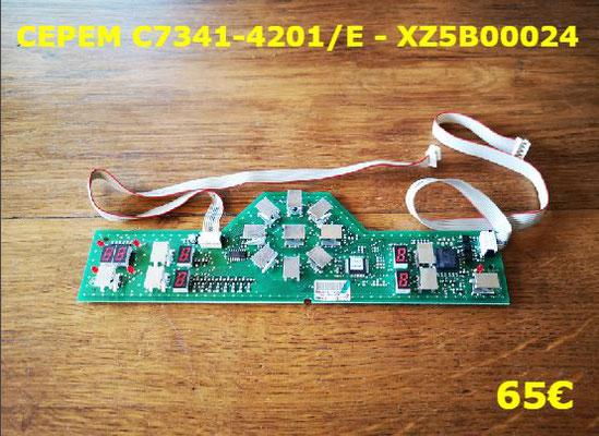 CARTE CLAVIER PLAQUE VITROCÉRAMIQUE : CEPEM C7341-4201/E - XZ5B00024