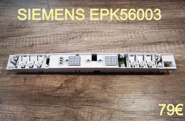 CARTE DE COMMANDE FRIGO : SIEMENS EPK56003