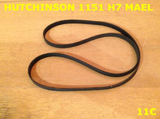 COURROIE LAVE-LINGE : HUTCHINSON 1151 H7 MAEL rose
