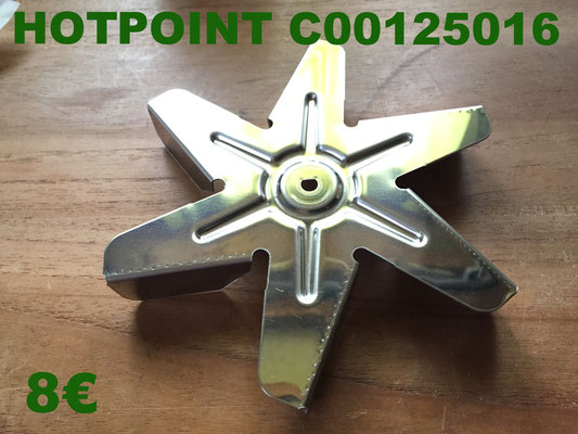 HÉLICE DE FOUR : HOTPOINT C00125016