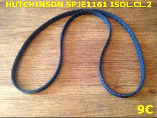 COURROIE LAVE-LINGE : HUTCHINSON 5PJE1161 ISOL.CL.2