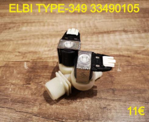 ÉLECTROVANNE 2 VOIE SORTIE DROITE : ELBI TYPE-349 33490105