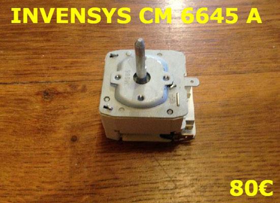 MINUTERIE SÈCHE-LINGE : INVENSYS CM6645A