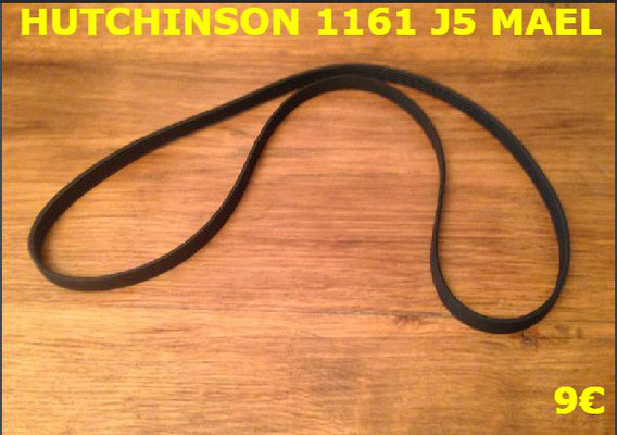 COURROIE LAVE-LINGE : HUTCHINSON 1161J5 MAEL