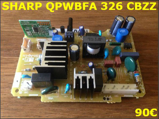 CARTE DE COMMANDE FRIGO : SHARP QPWBFA326CBZZ