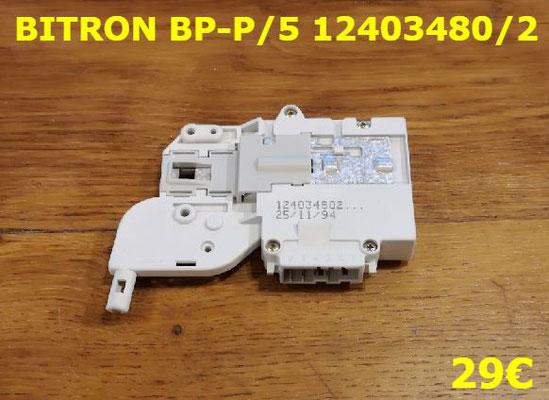 VERROU DE PORTE LAVE-LINGE : BITRON BP-P/5 12403480/2