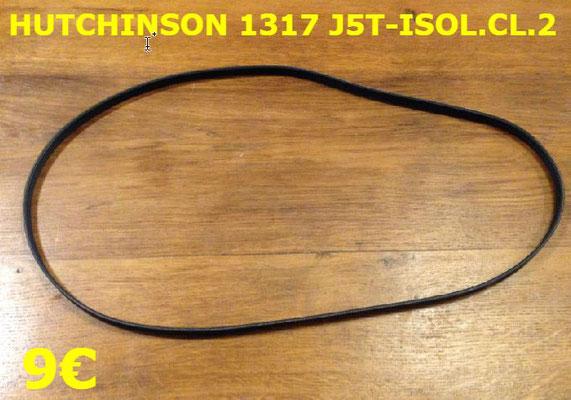 COURROIE LAVE-LINGE : HUTCHINSON 1317J5T-ISOL.CL.2
