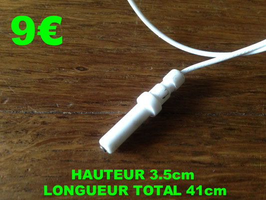 BOUGIE D'ALLUMAGE : HAUTEUR 3.5cm LONGUEUR TOTAL 41cm