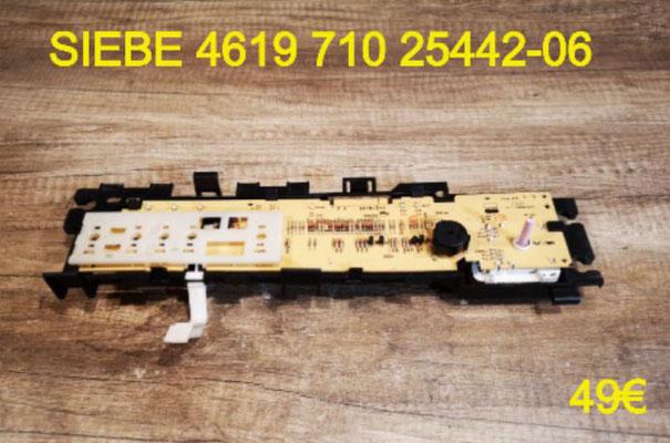 CARTE DE COMMANDE SÈCHE-LINGE : SIEBE 461971025442-06