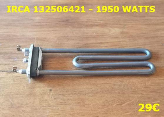 RÉSISTANCE LAVE-LINGE : IRCA 132506421 - 1950 WATTS