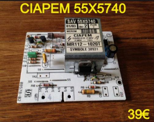 CARTE DE PUISSANCE LAVE-LINGE : CIAPEM 55X5740