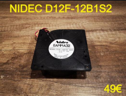 VENTILATEUR PLAQUE VITROCÉRAMIQUE : NIDEC D12F-12B2S1