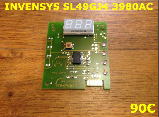 CARTE DE COMMANDE SÈCHE-LINGE : INVENSYS SL49GJ4 3980AC