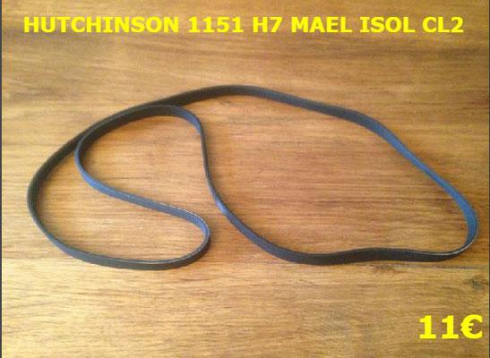 COURROIE LAVE-LINGE : HUTCHINSON 1151 H7 MAEL ISOL CL2 rouge