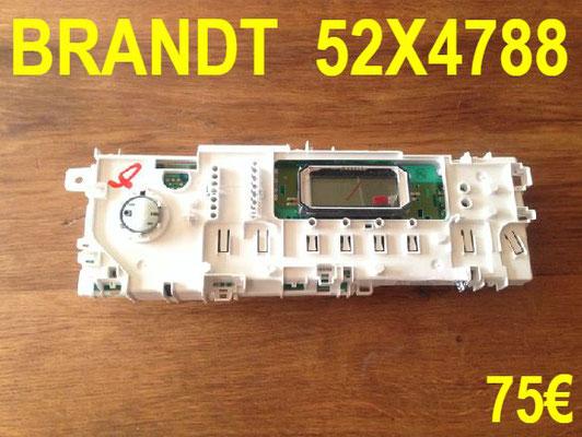 CARTE DE COMMANDE LAVE-LINGE : BRANDT 52X4788