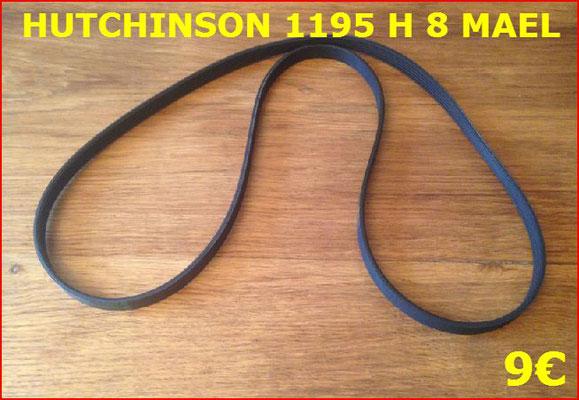 COURROIE LAVE LINGE : HUTCHINSON 1195 H 8 MAEL