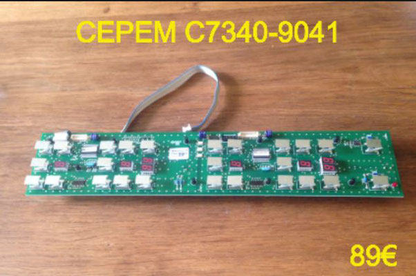 CARTE CLAVIER PLAQUE VITROCÉRAMIQUE : CEPEM C7340-9041
