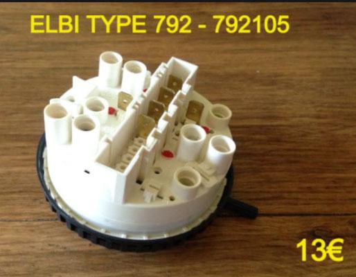 PRESSOSTAT : ELBI TYPE 792 - 792105