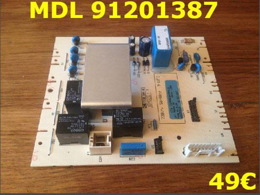 CARTE DE PUISSANCE LAVE-LINGE : MDL 91201387
