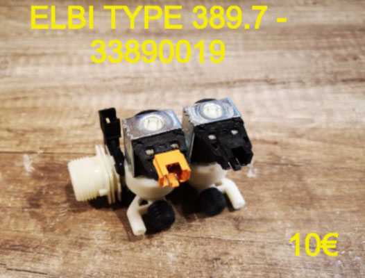 ÉLECTROVANNE 2 VOIE SORTIE 90° : ELBI TYPE389.7 - 33890019