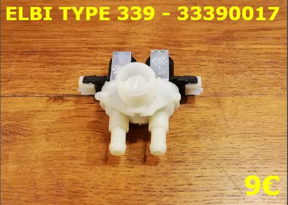ÉLECTROVANNE 2 VOIE 90° : ELBI TYPE339 - 33390017