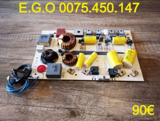 CARTE DE PUISSANCE PLAQUE VITROCÉRAMIQUE : E.G.O 0075.450.147