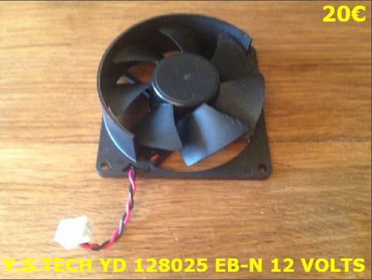 VENTILATEUR PLAQUE VITROCÉRAMIQUE : Y.S.TECH YD128025EB-N 12 VOLTS