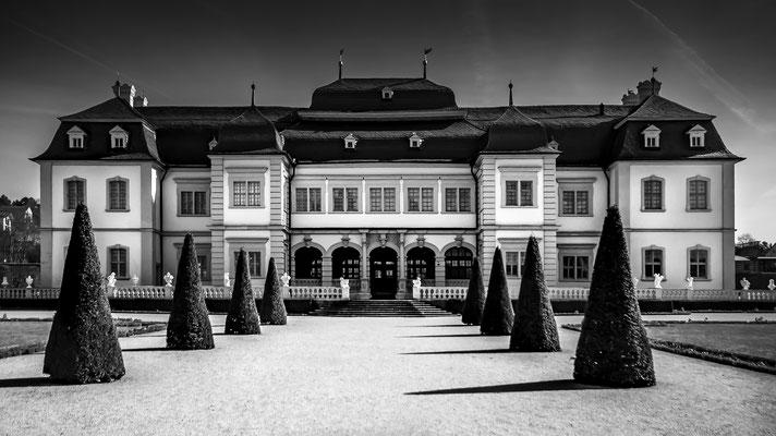 """Jutta Hintze - """"Schloss Veitshöchheim"""" - Urkunde - Bezirksfotomeisterschaft Mainfranken 2018 – Sonderthema S/W"""