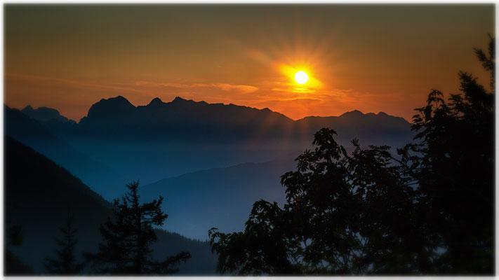 Eberhard Mathes: Sonnenuntergang