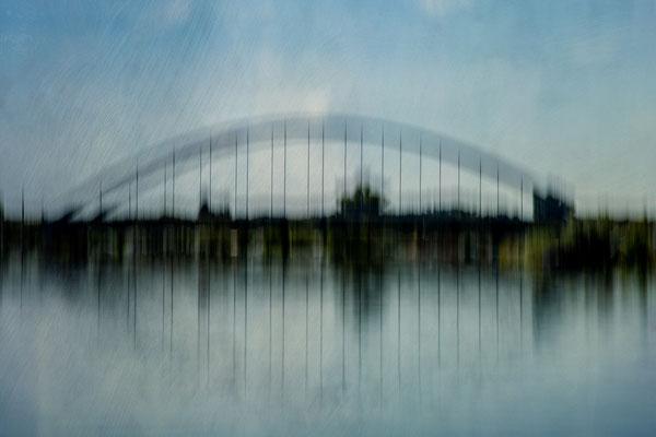 "Heide Eggermann - ""Bogenbrücke Volkach"" - Urkunde - Bezirksfotomeisterschaft Mainfranken 2019 - Sonderthema"