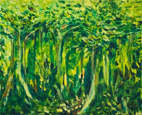 Forêt vierge (2014-02) : 30po x 24po (76cm x 61cm)
