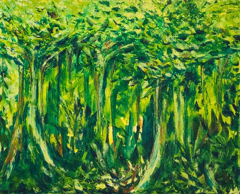 Forêt vierge (2014-02) : 30po x 24po (76cm x 61cm) - VENDU