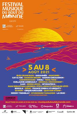 Illustration pour l'affiche du Festival Musique du Bout du Monde 2021 (Conception graphique Inie Design)