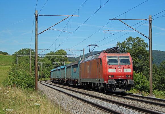 185 092 am 04. Juli 2016 bei Zeihen am Bözberg (Schweiz).