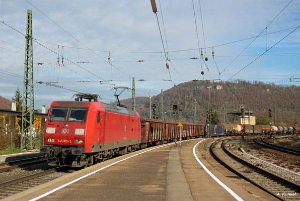 145 021 in Geislingen an der Steige am 21. Oktober 2017.