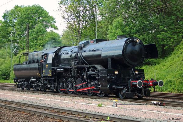 CFL 5519 ist mit dem Sonderzug der Museumseisenbahn Hanau nach Laufach gekommen (25. Mai 2017).